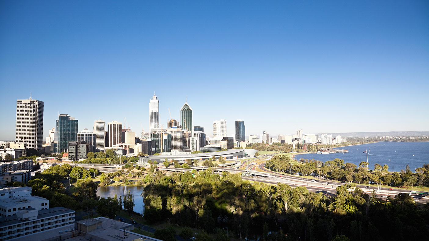 Perth cityscape - stock photo