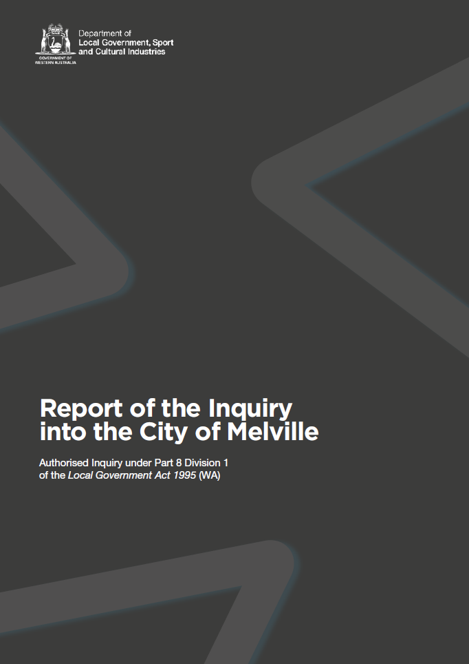 Report of the Inquiry into the City of Melville cover