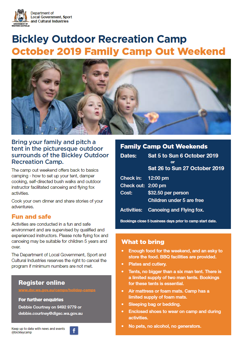 Bickley October 2019 Family Camp Out Weekend