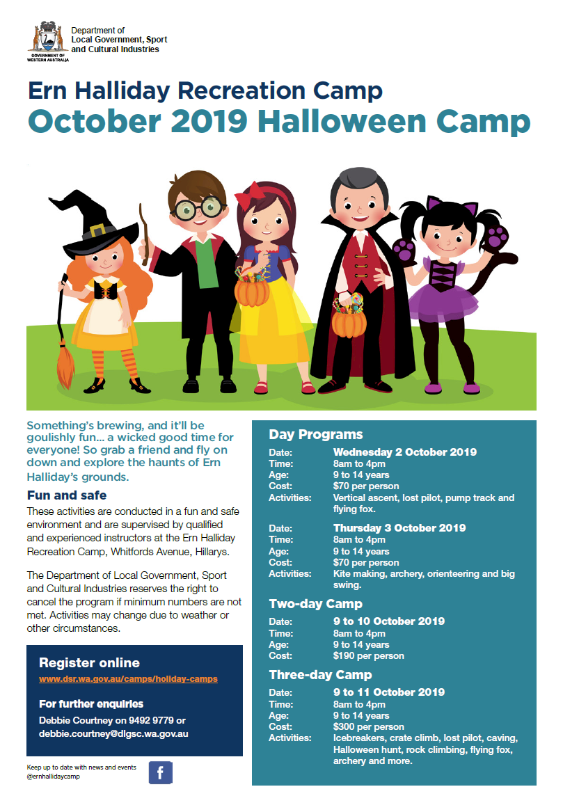 Ern Halliday October 2019 Halloween Camp
